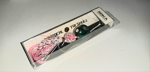 Seika Vertical Tai Skull 60g Green/Gold